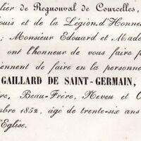 Marie Louis Stanislas Gaillard De Saint-Germain De Vitermont Evreux 1852