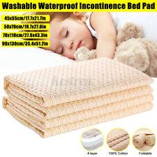 Waterproof Incontinence Bed Pad & Sheet Protectors Elderly Kids Mattress Mat