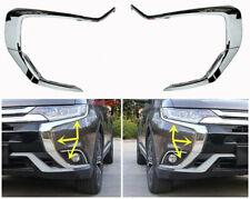 Chrome Fits 2016-19 MITSUBISHI OUTLANDER Front Drive Side Strips On Bumper 6PCS