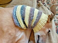 Greyhound Dog Lt. Yellow Stripe Snood Cover Neck *100% Donation 2 Cure K9 Cancer