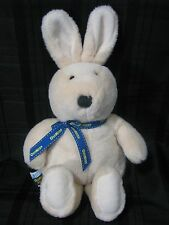 OSHKOSH OSH KOSH STUFFED PLUSH CREAM BEIGE BUFF TAN BUNNY EDEN TOYS BLUE RIBBON