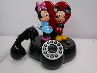 Vintage Disney Mickey & Minnie Animated Talking Telephone Dial Phone Tested