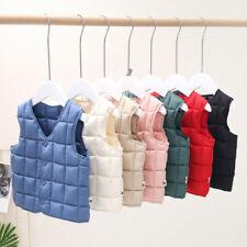 Kids Girls Boys Sleeveless Coats Padded Vest Soft Jacket Warm Clothes Waistcoat