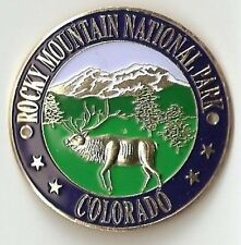 Hiking Stick Medallion Rocky Mountain National Park Elk Three Dimensional Relief