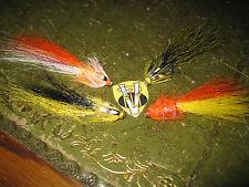 4 V Fly 3/4 inch Brass Super Snaelda Salmon Tube Fly Selection