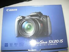 Canon PowerShot SX20 IS digital camera in original box w user info, instructions