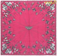 """ALEXANDER MCQUEEN pink TRAPPED IN BELL JAR modal/wool 54"""" scarf NEW Authen $420!"""