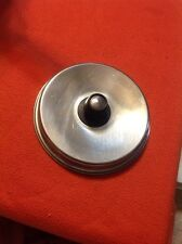 "Vintage Aluminum Pan Lid 7 1/2"" with Knob Handle"