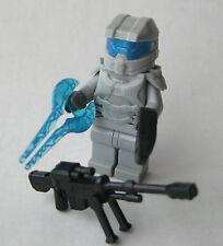 Lego Custom HALO MASTER CHIEF Spartan Minifigure -L. GRAY- Sniper, Sword, Pistol