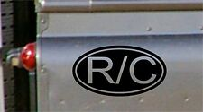 R/C Oval Decals nitro electric Radio Control Plane Truck Helicopter Boat Sticker