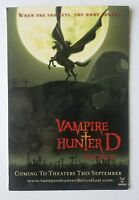 Vampire Hunter D Bloodlust (pre-release) Theatrical Promo Post Card (2001)