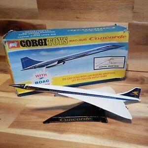 Corgi 650 Concorde BOAC In It's Original Box - Vintage Original Model