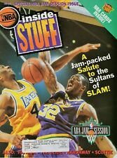 Karl Malone Cover Inside STUFF Fleer Ultra NBA Card Sheet 1992
