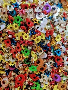 Fun Mix of 500 Assorted 1/8 - 3/16 Shaped and Round Aluminum Eyelets and Rivets