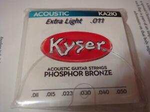 Guitar String Kyser  Acoustic KA210 Extra Light Phosphor Bronze Set of 6 11-50