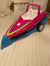 Vintage Barbie Speed Boat With Trailer Very Rare