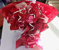 LADIES  SOCK BOUQUET HAND MADE WITH LOVE UNIQUE GIFT ,VALENTINES, BIRTHDAY ETC