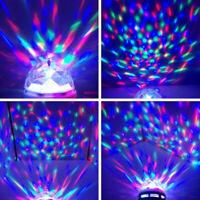 1Pc RGB Light Lamp Bulb Smart Rotating LED Light Bulb for Party DJ KTV Disco