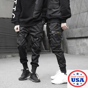 Man's Urban Casual Joggers Cargo Pants Sweatpants Trousers Streetwear Workout US