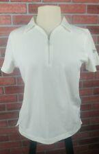 Callaway Women's Short Sleeve 1/4 Zip Polo Shirt Golf White Size M