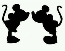 16 x Shapes like Micky & Minnie Mouse Silhouettes Kissing Love Valentines