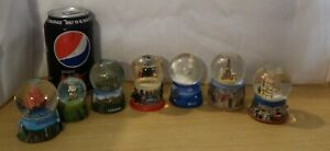 VINTAGE 7 x SNOW GLOBES SPAIN FRANCE GREECE HONG KONG