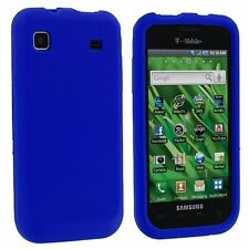 Silicone Skin Case for Samsung Galaxy S Vibrant T959 - Blue