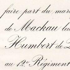 Anne Polyxène De Mackau Paris 1882 Humbert De Quinsonas