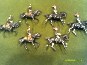 Vintage Post War Britains Johillco British Cavalry Horsemen lot