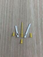 ETA Valjoux 7750 Weiss/Gelb NOS Style Zeigerset Chronograph Retro