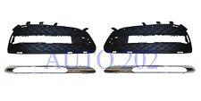 Mercedes EClass W212 Avantgarde 09-13 Front Bumper Grille Chrome Light Trim Pair
