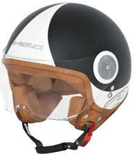 Motorcycle Jet Helmet Size XL Black Matte Scooter Moped with Visor New