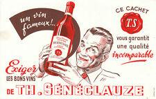 Buvard vintage vins Sénéclauze