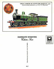 GREAT NORTH OF SCOTLAND RAILWAY LOCOMOTIVE MINT UNUSED POSTCARD