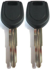 2 NEW Mitsubishi Transponder Chipped Master Key Blank - MIT17A-PT - MN141307