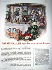 Rare 1955 GUINNESS Beer Advert (G.E.2489.B) - 'Jane Welsh Carlyle' Print AD