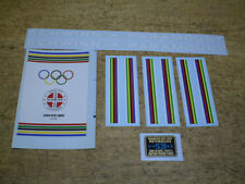 Schwinn Approved White Paramount Bicycle Decal Set Early 1970's Complete