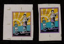 1940 US Easter Seals Die Proof Set - 2 Colors