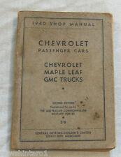 MILITARY VEHICLE  INSTRUCTION BOOK  - 1949 CHEVROLET CARS & TRUCKS