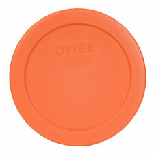 "Pyrex 7200-PC Round 2 Cup 5"" Storage Lid Cover Orange New for Glass Bowl"