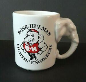 Vintage Rose Hulman Fightin' Engineers Ceramic Mug 13oz Made In USA