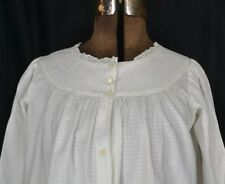 antique blouse top Civil War Era white cotton cover up smock original 19th c