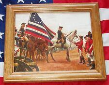 Framed American Revolution Painting. Mort Kunstler, George Washington, Yorktown