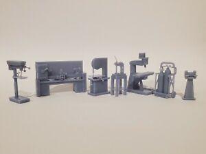 O scale Machine Shop - Model Railroad - Dioramas A Grade