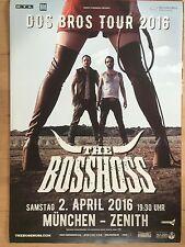 THE BOSSHOSS 2016 MÜNCHEN - orig.Concert Poster  --  Konzert Plakat  A1 NEU