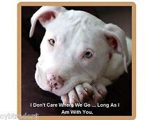 Pit Bull Terrier Dog Don't Care  Refrigerator / Tool Box / Locker Magnet