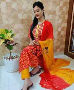 Women Designer Kurti Kurta Set Bollywood Style Salwar Kameez Dupatta Stitched
