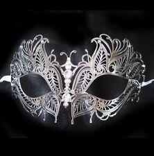 Metal Silver & Jewels Venetian Sexy Woman Mardi Gras Adult Costume Party Mask