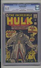 Incredible Hulk #1 CGC 6.5 FN+ Marvel 1st Banner Thunderbolt & Betty Ross OW/W