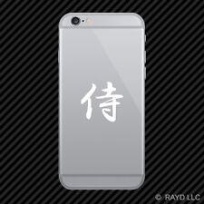 (2x) Samurai Cell Phone Sticker Mobile Kanji many colors